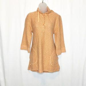 Soft Surroundings tweed hooded Cozumel tunic